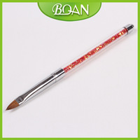 Presale 2013 New #4 Kolinsky Nail Brush Nail Art 3D Brush Acrylic Handle Nail Pen Free Shipping