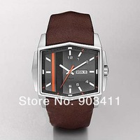 Free shipping hot sale men's watch DZ1341 leather Quartz Movement Wristwatches HK post