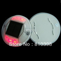 Fedex free shipping PC Solar road stud in red color solar cat eyes road marker deck light in High quality