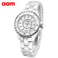 Ladies watch dom watch commercial white ceramic table fashion women's watch