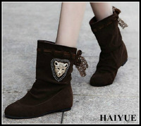2013 New lady Suede Fringed in Brand Ankle Martin Boots Rivets Lace Solid color Women Motorcycle Boots