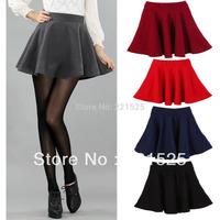 Free shipping!new arrival 2013 women winter basic pleated high waist dress short skirt  winter underskirt