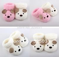 Free Shipping Cute Cartoon Baby Socks Bear Manual Slipper Shoes Newborn to 5 Month Autumn Winter Infant Gift Drop Shipping