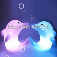 20pcs Novelty Cute 7 Colors Changing Dolphin LED Night Light Decoration LED Flashing Candle Lamp Nightlight Gift Free Shipping