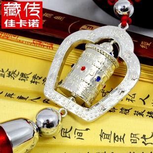Free shipping Prayer wheel turning tube car exhaust pipe car hangings(China (Mainland))