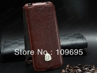 Luxury Cow Genuine Leather Flip Cover for Apple iPhone 5  5S Top quality leather Holster Case For iPhone5 5S Free Shipping IP5X2