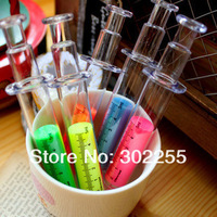 wholesale 1200pcs/lot Syringe Shape High Light Pen High-ligher +EMS/Fedex Free Shipping