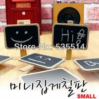 20x Mini Blackboard Chalkboard Wooden Peg Clip Wedding Party Gift Card Favours