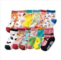 FreeShipping==New arrival hot-selling 100% cotton children socks rubber slip-resistant floor socks cartoon small kid's socks