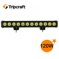 Wholesale CREE Offroad Lights 120w led light bar SPOT Beam Work Light 4WD BOAT offroad led light 12V 24V