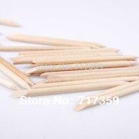 5pack/set (500pcs) Nail Art Orange Wood Stick Cuticle Pusher Remover AY600410