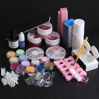 2014 Hot Nail Art UV Acrylic Liquid System Primer Buffer Manicure File Set Decoration Kit