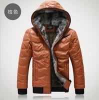 2013 Men's cotton plus velvet thick warm plaid stitching fashion casual hooded jacket coat Korean Slim
