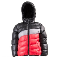 F5 VIP Youth Club 506312 Russia Brand Striped Cotton-padded Jackets for Boy's Children's Winter Hooded Outwear Kids Warm Coats