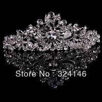 Factory price~Fashion crystal nice bridal tirar wholesale silver  Wedding crown jewelry