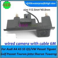 CCD HD Car rear view parking reversing Camera For Audi A4L A4 A5 S5 Q5  VW Passat Tiguan Golf Passat Touran Jetta Sharan Touareg