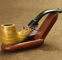 "6"" Bent Palo Santo Wood Tobacco Smoking Pipe -PS-623"