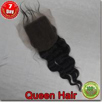Sale 10% off virgin Brazilian  top lace closure loose wave, 100% unprocessed human hair free shipping 1 bundle/ lot
