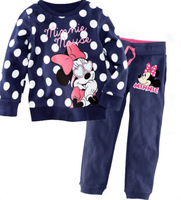 high quality cotton material 6 sets/lot twinset winter sets baby winter clothes sets