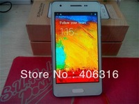 "Free shipping! 4.3"" mini note 3 F9002 MTK6572 Dual Sim dual core rom 4G Android 4.2.2 mobile Phone"