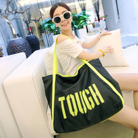 Casual street shopping bag travel bag letter color block women's handbag shoulder bag 8245