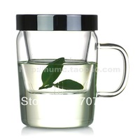 Make utensils flowers cup top glass material 370ml S010