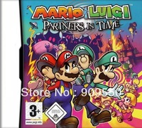 1pcs/Lot ,Grade AAA  vedio game for DS/DSI :Mario & Luigi: Partners in Time  EU /US packaging for sample  FREE SHIPPING