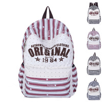 Male women's bags travel bag backpack student school bag canvas backpack