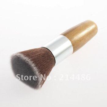 1 PCS плоское основание Топ буфера Порошковая кисти Косметическая Макияж Инструмент деревянной ручкой Бесплатная доставка