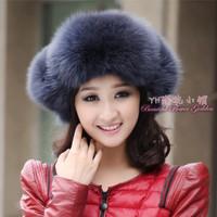 2013 women's winter fur hat fox fur hat fur lei feng hat ear thermal fur hat female