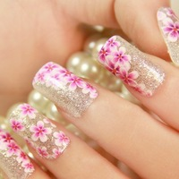 Hot Sale Elegant Flower  Nail Art Sticker Decal Manicure Tip.4.16368. French Style Nail Art Decoration Free Shipping