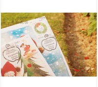 Christmas Christmas cards post card / greeting card / postcard 5pcs/set FREE SHIPPING