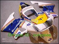 7gifts Pre-drilled white blue yellow golden for HONDA CBR 900RR 919 CBR919 919RR 98 99 1998 1999 ABS bodywork + 3gifts e0099