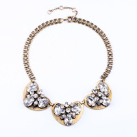 2013 Vintage Crystal Heart  Chokers Necklace Design Jewelry Free Shipping (Min Order $20 Can Mix)