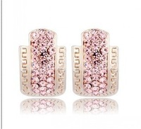 Popular Elegant OL Rinestone Square 2013 new fashion Refinement Stud Earrings Free Shipping.Mini Order Is $10,(Can Mix Order)