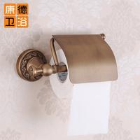 Fashion bathroom accessories copper antique toilet paper holder vintage toilet paper box luxury royal bumpered rack (KP)