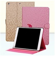 Luxury Diamond Pattern PU Leather Stand Case For iPad Air iPad5