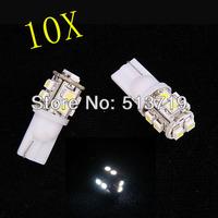 Wholesale 10pcs/lot white T10 194 168 192 W5W 3528 smd 10 smd super bright Auto led car led lighting/t10 wedge led auto lamp