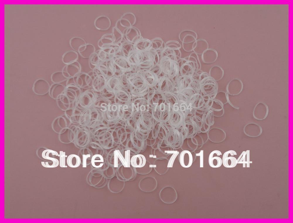 "2000PCS 4.0cm 1.6"" length white mini rubber Hairband for Rope Ponytail,white Holder Elastic Hair Band,Ties Braids Plaits(China (Mainland))"