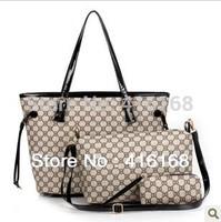 The new three-piece PU handbags of high quality multi-spot pattern shoulder bag high quality