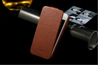 Luxury leather case for Iphone5g 4g 4  ultrathin crazy horse flip case for iphone 4g Free Shipping