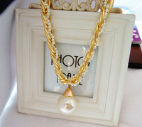 Fashion big pearl short design necklace female chain luxurious necklace fashion accessories necklace