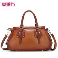 100% genuine leather bags women leather handbags high quality designers Vintage Handbag totes shoulder Bags rivet messenger bag
