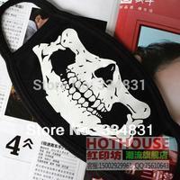 Freeshipping!Seal skull masks male 100% black cotton masks skull personality masks dust mask fashion pm2.5