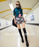 2013 new winter shoes women flat heel jackboot pointed high boots stretch boots long boots