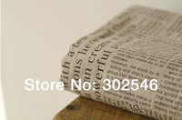 Free shipping 1 meters  English newspaper fabrics  for Tablecloths cushion pillow linen fabric width 150cm