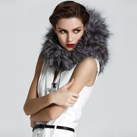 genuine Fur accessories silver fox knitted fashion hat