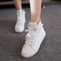Shoes shoes female 2013 autumn british style flat elevator velcro high-top shoes