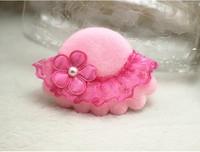 80pair /Lot Wholesale New Arrived Lace Little Pillbox Hat Sun Helmet Children Hair Clip Hairpins Hair Ornaments