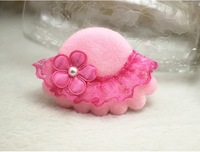 New Arrived Super Soft Lace Little Pillbox Hat Sun Hat Children Hair Clip Hair Pin New Year Gift
